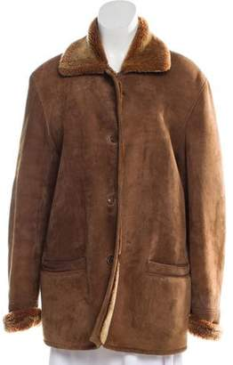 Burberry Shearling-Lined Suede Coat