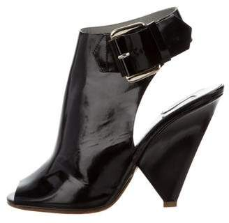 Chloé Cutout Peep-Toe Booties