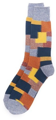 Anonymous Ism Patchwork Crew Socks $24 thestylecure.com