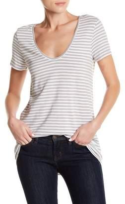 Susina Stripe Scoop Neck T-Shirt (Regular & Petite)