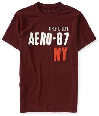 Aeropostale Mens Applique Logo Graphic T-Shirt Xs