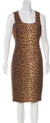Michael Kors Wool Sleeveless Midi Dress