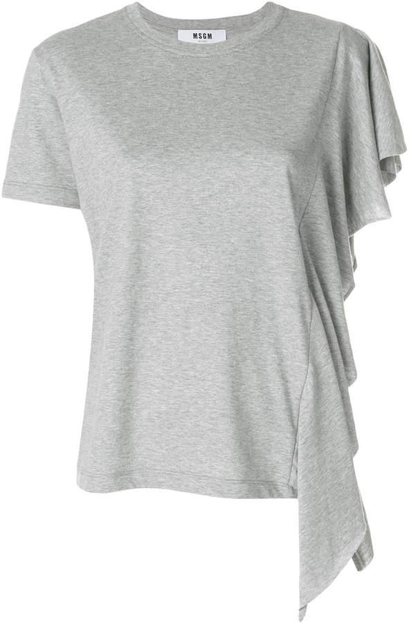 MSGM ruffle trim T-shirt