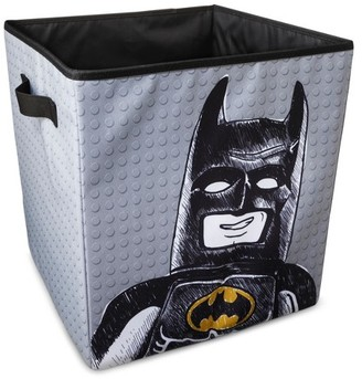 "LEGO The LEGO Batman Movie® Black & Gray Storage Basket (14""x14"") $14.99 thestylecure.com"