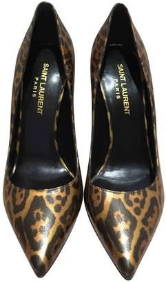 Saint Laurent Metallic Leather Heels