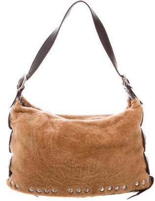 Kieselstein-Cord Shearling Shoulder Bag