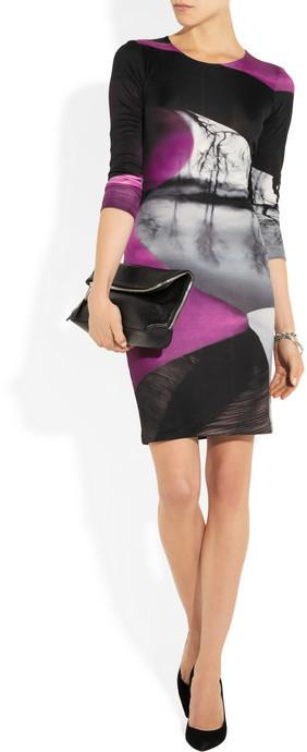 Mary Katrantzou Printed silk-jersey dress