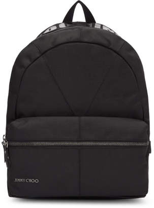 Jimmy Choo Black Canvas Reed Backpack