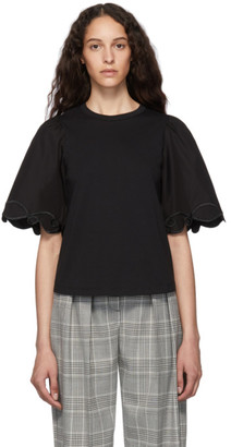 See by Chloe Black Embellished T-Shirt