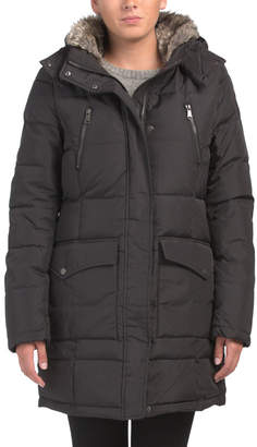 Tory Down Filled Jacket With Faux Fur Collar