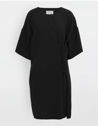 Maison Margiela Lace-Up Jersey Midi Dress