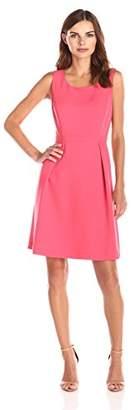 Lark & Ro Women's Sleeveless Pleated Flare Dress