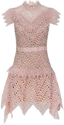 Self-Portrait Self Portrait Abstract Lace Mini Dress