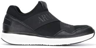 Armani Jeans branded strap sneakers