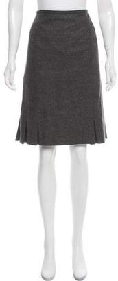 DKNY Wool Knee-Length Skirt