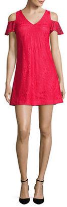 Guess Lace Cold-Shoulder Dress $128 thestylecure.com