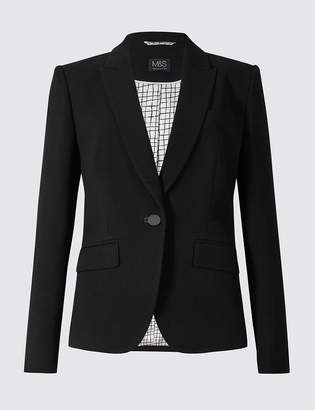 Marks and Spencer Single Button Crepe Blazer