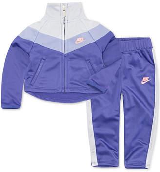 Nike Toddler Girls 2-Pc. Colorblocked Zip-Up Track Jacket & Pants Set