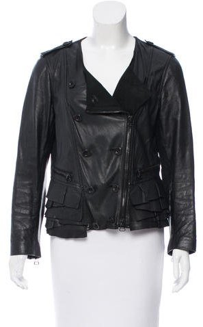 3.1 Phillip Lim 3.1 Phillip Lim Ruffle-Trimmed Leather Jacket