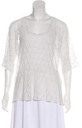 Raquel Allegra Crocheted Short Sleeve Top