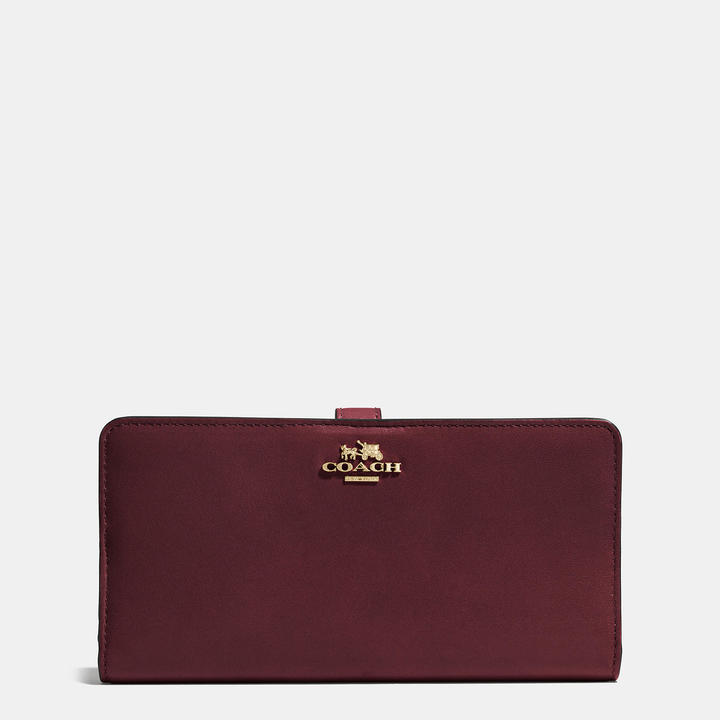 Coach   COACH Coach Madison Skinny Wallet In Leather