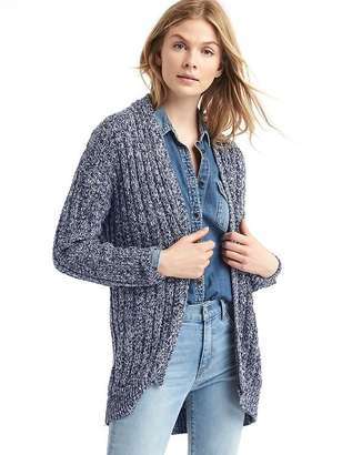 Cozy ribbed open-front cardigan $69.95 thestylecure.com
