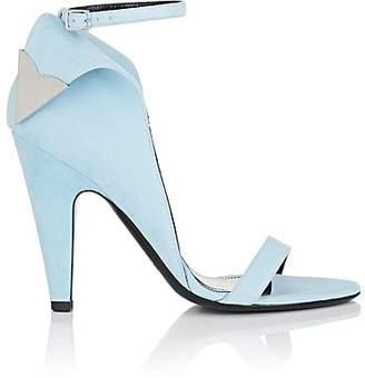 Calvin Klein Women's Leititia Suede Sandals - Lt. Blue Size 7