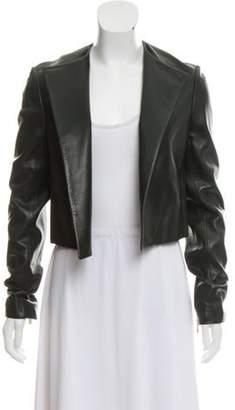 Jason Wu Open Front Leather Jacket gold Open Front Leather Jacket