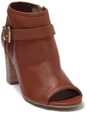 Manas Design Cuoio Polacco Donna Peep Toe Block Heel Boot