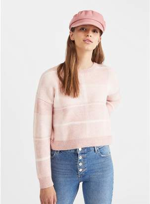 Miss Selfridge - Pink Checked Knitted Jumper