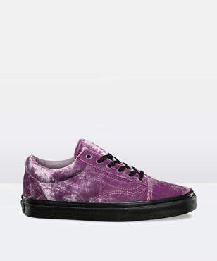 Vans Velvet Old Skool Sea Fog Black Shoe
