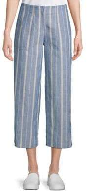 Lafayette 148 New York Kenmare Striped Cropped Pants