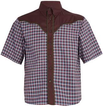 Prada Checked western cotton shirt