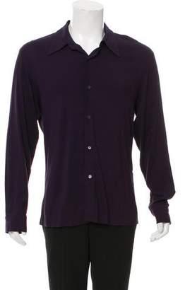 Ann Demeulemeester Woven Button-Up Shirt