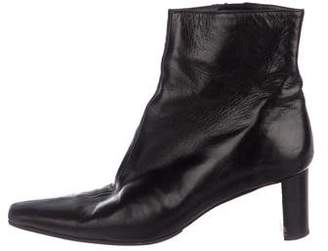 Clergerie Leather Square-Toe Ankle Boots