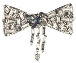Alexis Bittar Baguette Crystal Bow Pin