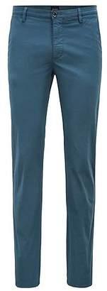 HUGO BOSS Slim-fit chinos in diamond-brushed comfort-stretch cotton