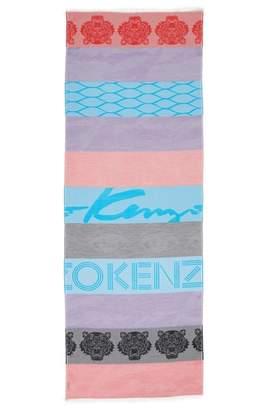 Kenzo Multi Icons Cotton & Silk Scarf