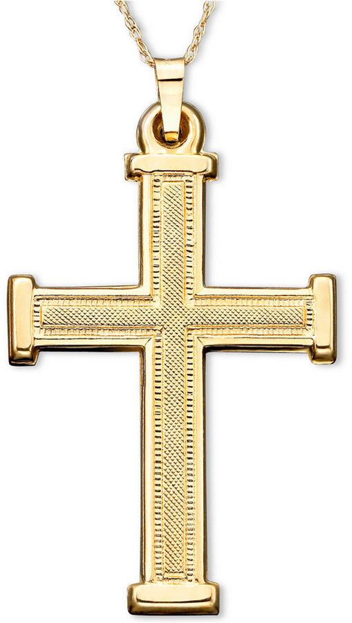 Cross Pendant in 14k Gold