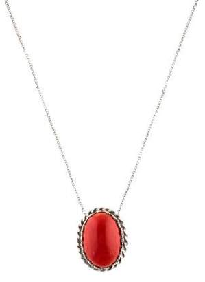 14K Red Coral Pendant Necklace