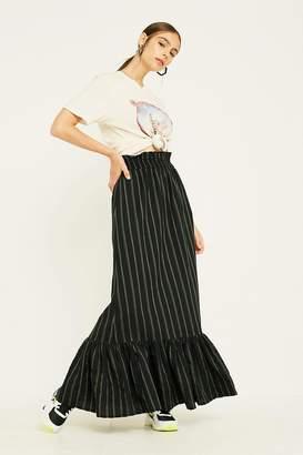 Urban Outfitters Vertical Stripe Peplum Maxi Skirt