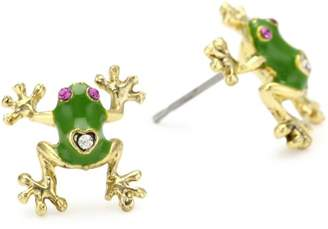 Betsey Johnson and Gold Frog Stud Earrings