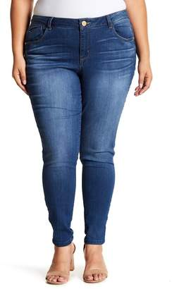 Democracy Mid Rise Freedom Ankle Skinny Jeans (Plus Size)