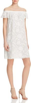 Cooper & Ella Floral Off-the-Shoulder Dress $225 thestylecure.com