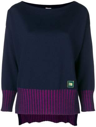 I'M Isola Marras contrast ribbed sweater