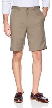 Haggar Men's Cool 18 Gabardine Flat Front Short