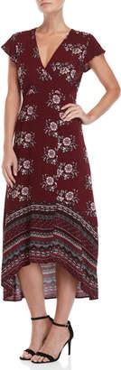 Onetheland Floral Hi-Low Maxi Dress