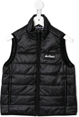 Denim Dungaree padded piped gilet