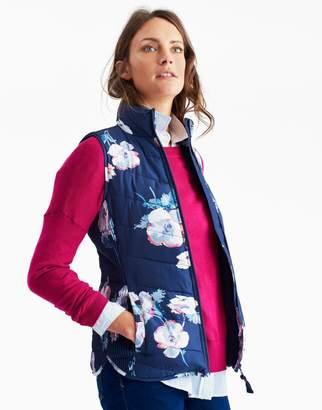 Joules Clothing Navy Poppy Highgrove print Padded Gilet