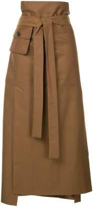 CHRISTOPHER ESBER belted midi a-line skirt